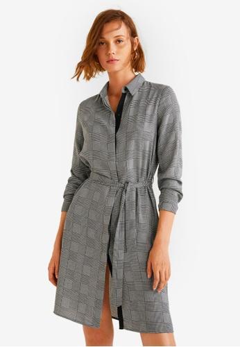 Mango grey Bow Shirt Dress 47209AA8A0682AGS_1