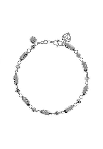 Elfi silver Elfi 925 Sterling Silver Cylinder Chain Charm Ladies Bracelet SB-56M D865BAC53595CFGS_1