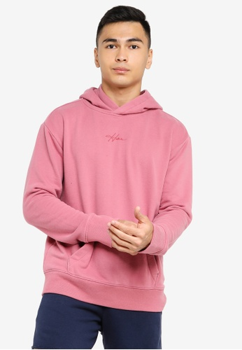 Hollister pink Solid Script Pullover 6ED2AAA0B50797GS_1