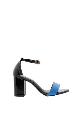 SEMBONIA blue Women Synthetic Leather Heeled Sandal E828ESHAEAC869GS_1