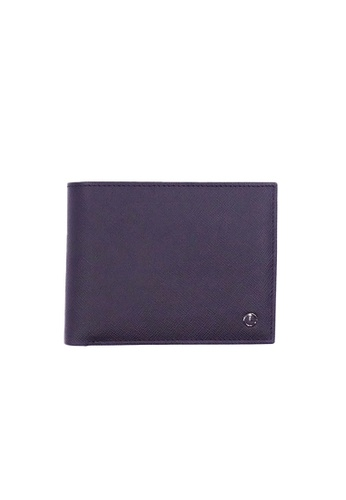 Goldlion black Goldlion Men Leather Wallet (9 Cards Slot, Window Compartment, Center Flap, Coin Pouch) - Black with Inner Gray CF6BFAC36A1F6AGS_1