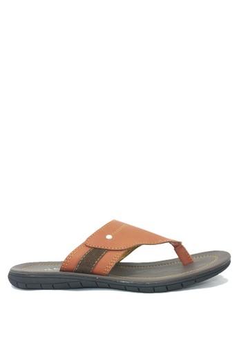 Dr. Kevin brown Dr. Kevin Men Casual Sandals 17193 - Tan DR982SH50MKBID_1