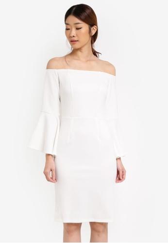 Dorothy Perkins white Ivory Bardot Pencil Dress DO816AA0T04YMY_1