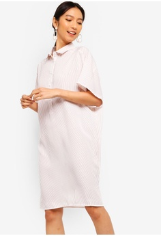 80de2c344e16cc ZALORA pink Oversized Shirt Dress A4032AAC9B649EGS 1