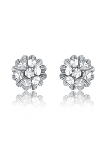 MaBelle silver 14K/585 White Color Gold Gold Flower Earrings AF112ACC463A29GS_1