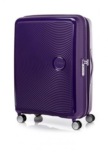 American Tourister purple Curio Spinner 80/30 Exp TSA F9CFFAC0554A34GS_1