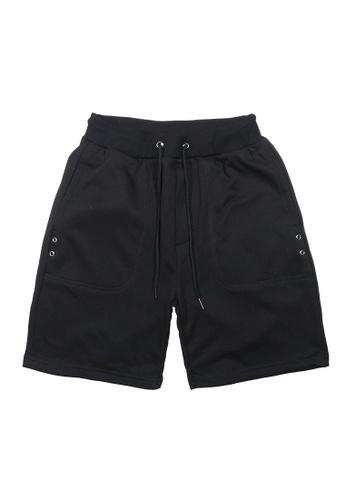 DRUM black Classic Short Sweatpants- Black A225DAAB762DDFGS_1