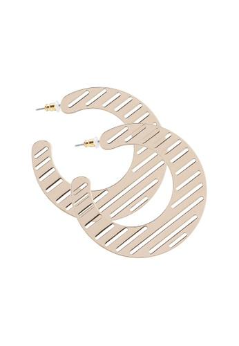 FOREVER 21 gold Oversized Cutout Hoop Earrings D05CAACFBFDFE7GS_1