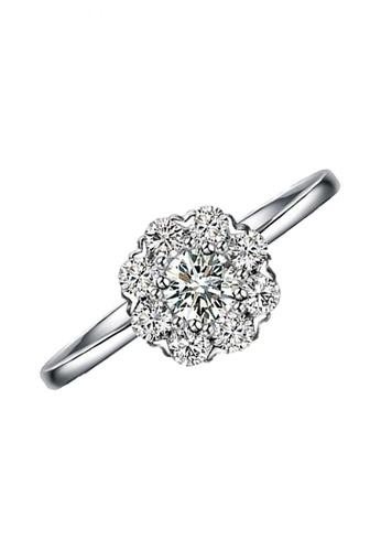 Elfi silver Elfi 925 Genuine Silver Engagement Ring R9 - The Flower of Beauty EL186AC34JGRMY_1