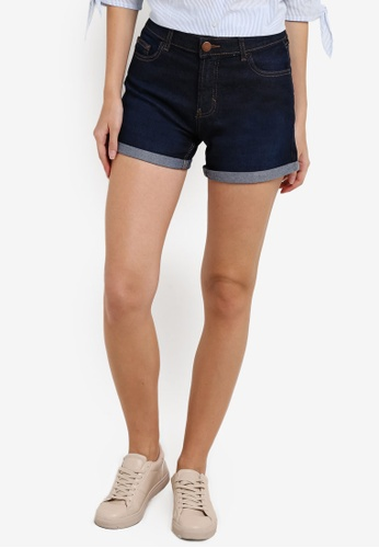 Dorothy Perkins blue Indigo Denim Shorts DO816AA94BAJMY_1