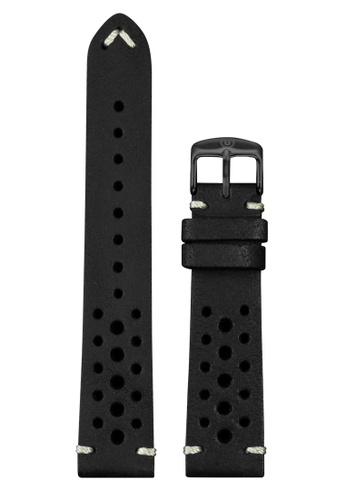 Undone black Undone Rally Black Calf Leather Strap 20mm (Black Buckle) UN712AC2VEK8HK_1