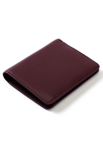 PLAIN SUPPLIES red Eli II  RFIDsafe Bifold- Burgundy 8E8A3AC8C85BE4GS_1