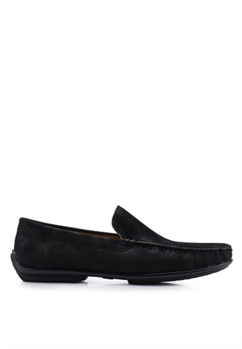 Louis Cuppers 黑色 Faux Leather Loafers BCABFSH02790B6GS_1