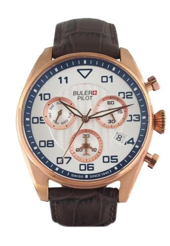Buler brown and silver Buler Sport Watch - Silver - Gents - Date - 6H BU689AC2VG1NHK_1