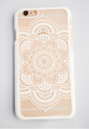 Fancy Cellphone Cases white Flower Mandala for iPhone 6 FA644AC10EWRPH_1