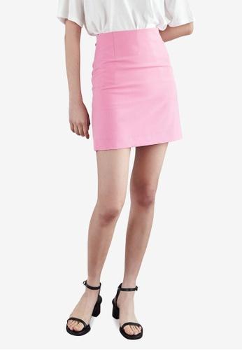 NAIN pink A-Line Mini Skirt C4A0CAA11481D4GS_1