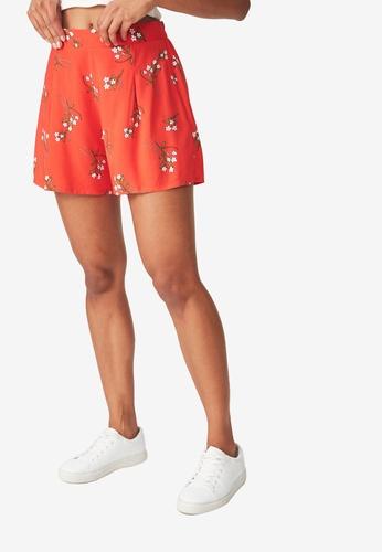 Cotton On red Maya Flirty Shorts A6E1CAA57EC7BAGS_1
