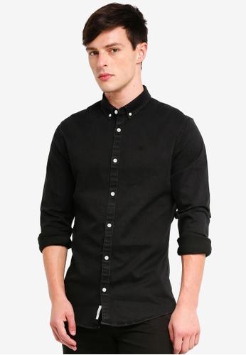 River Island 黑色 刺繡牛仔襯衫 310C9AA5985286GS_1