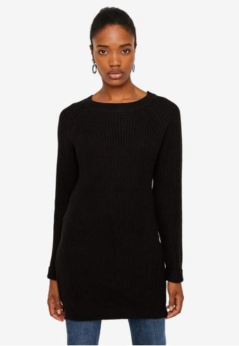 Noisy May black Siesta Long Sleeves O-Neck Knit Dress B0B0CAA92EDDC3GS_1