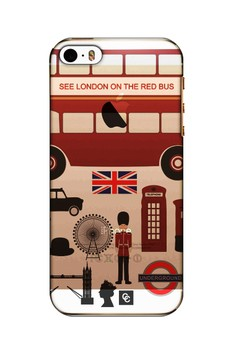 Casey Crazy - London Semi-Transparent Hard Case for iPhone 5, 5s