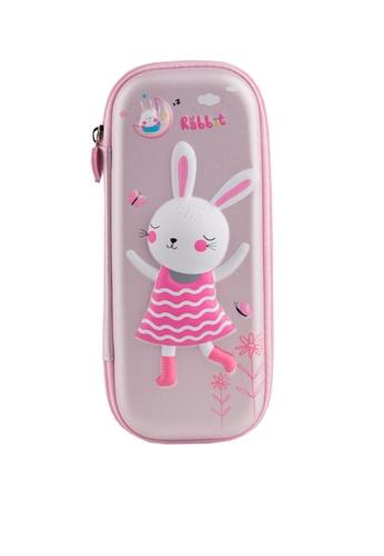 Twenty Eight Shoes pink VANSA Dancing Rabbit Series Pencil Case  VAK-A6671 9E407KC10E08CEGS_1