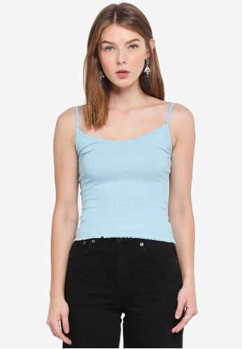 TOPSHOP blue Remi Vest Top 2DB1FAA44AA39CGS_1