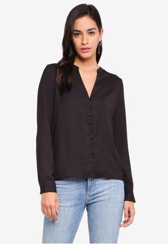 Vero Moda black Zoey Button Shirt 0F977AA387D707GS_1