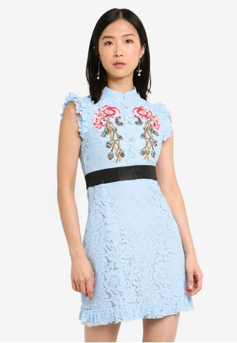Megane blue Red Romance Felicia Embroidery Lace Cheongsam 1256AAAD07AA54GS_1