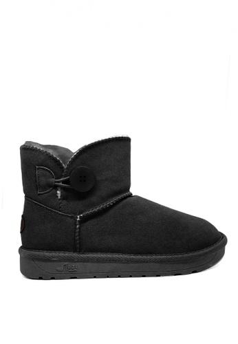Twenty Eight Shoes black Cow Suede Low Classic Button Boots UUD04 61738SH5402612GS_1