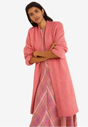 Mango pink Chunky-Knit Cardigan B9205AA6F18747GS_1
