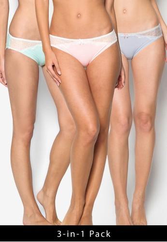 3 in 1 Sweet Heart Cotton Bikini Panties, 服esprit服飾飾, 內著