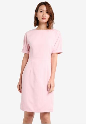 ZALORA pink Pencil Sheath Dress 753C0AAAA2618EGS_1