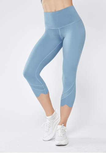 HAPPY FRIDAYS Nude Cropped Sports Tights QF1928 6869DAA452B7E7GS_1