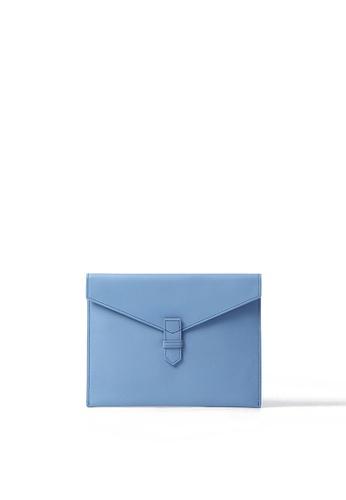 Rabeanco blue RABEANCO Envelope Clutch - Smooth Blue 4A48BACCFB0D20GS_1