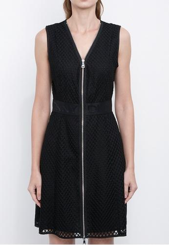 Dkny black DKNY Women W Neck Zip Front Dress 32A87AAF158D7BGS_1