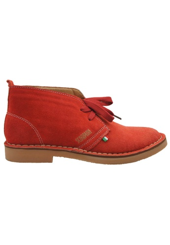 midzone red SCORPION Suede Leather High Cut 62D8DSH5F2F586GS_1