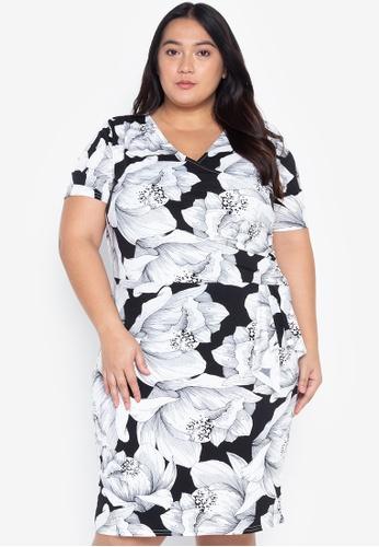 Plus Size Drape Wrap Dress