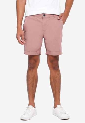 Selected Homme 褐色 素色休閒短褲 0BFF8AA23D944FGS_1