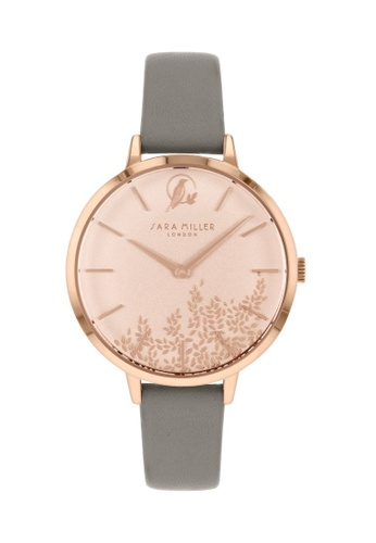 Sara Miller grey Sara Miller - Leaf 34mm - Rose Gold/Grey Strap (SA2030) C6850AC075F626GS_1