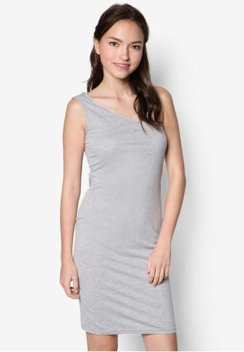 基esprit outlet 桃園本款斜肩連身裙, 服飾, 洋裝
