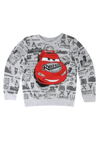 LC Waikiki grey Boy's Cars Printed Sweatshirt E666EKA13C1E1DGS_1