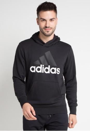 adidas black adidas essentials linear pullover hoodie A2E6DAA51CBE2BGS_1