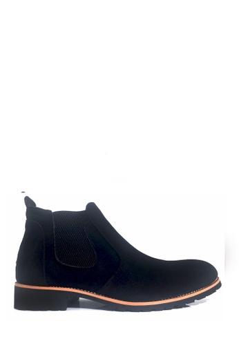 Twenty Eight Shoes 黑色 橡筋男裝短靴 VM2566 6CD58SH11DDC5EGS_1