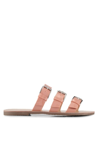 Something Borrowed pink Sandals with buckle strap 3A5B3SH7EA78F7GS_1