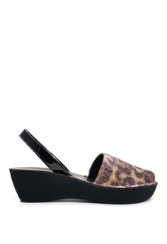 37f8a20d71d Kenneth Cole New York black and multi FINE GLASS - Slingback Sandal  05C3DSH534C115GS 1