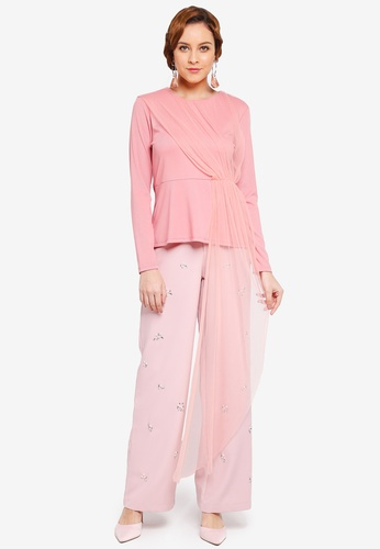 Lubna pink Side Part Top 401E0AA39AA105GS_1