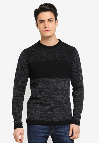 Jack & Jones grey Texas Knit Crew Neck JA987AA0T0FWMY_1