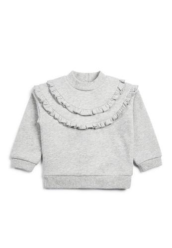 Mamas and Papas grey Metallic Frill Sweater 666E9KAFFD56EAGS_1