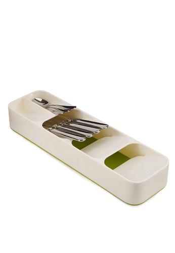 Joseph-Joseph white DrawerStore Compact Cutlery Organiser 63DCDHL83BA11AGS_1