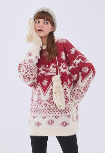 Twenty Eight Shoes Trend Christmas Cartoon Knit Sweater HH05140 18391AAC8F8BCEGS_1